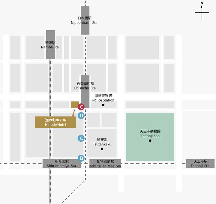 osaka-hinode-hotel-map
