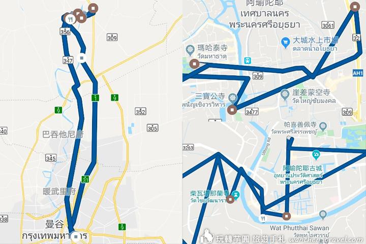 bangkok-ayutthaya-map