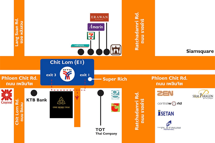 One More Thai Massage Map