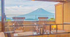 富士山溫泉飯店景色