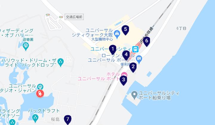 pickup-usj-hotel-map