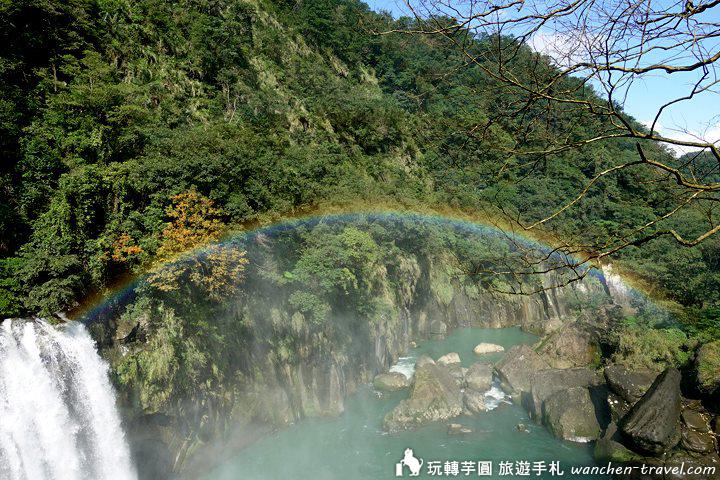 十分瀑布彩虹