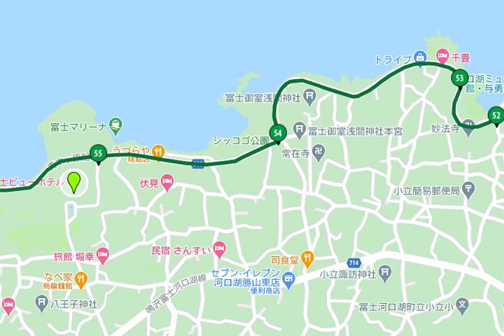 富士景觀飯店地圖