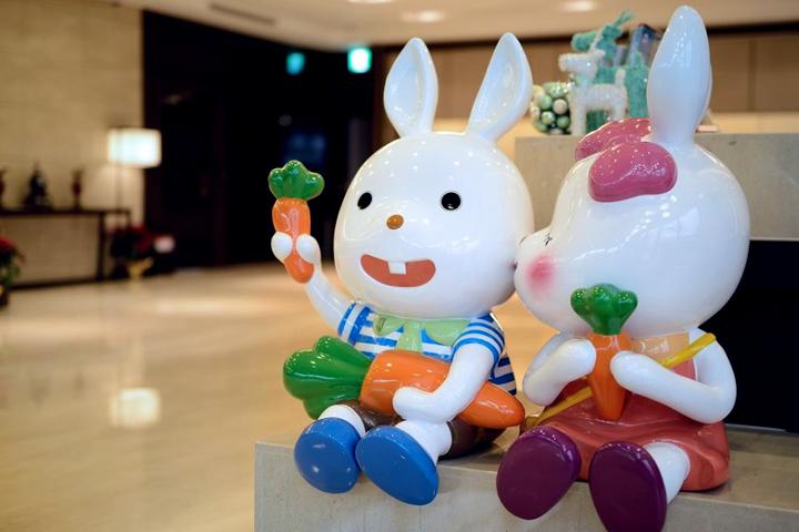 悅川酒店兔子吉祥物