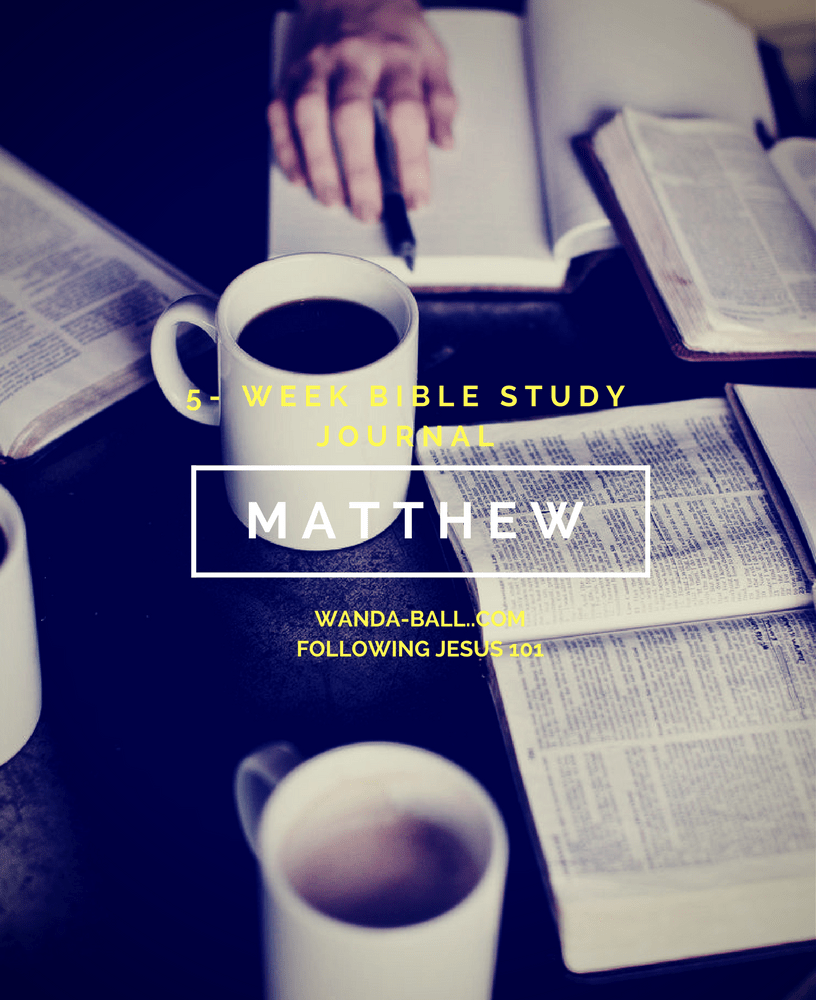 Following Jesus 101: Gospel of Matthew Bible Study Challenge Intro & Free Stuff