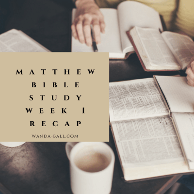 Following Jesus 101: Matthew-Bible Study Challenge-Week 1 Recap
