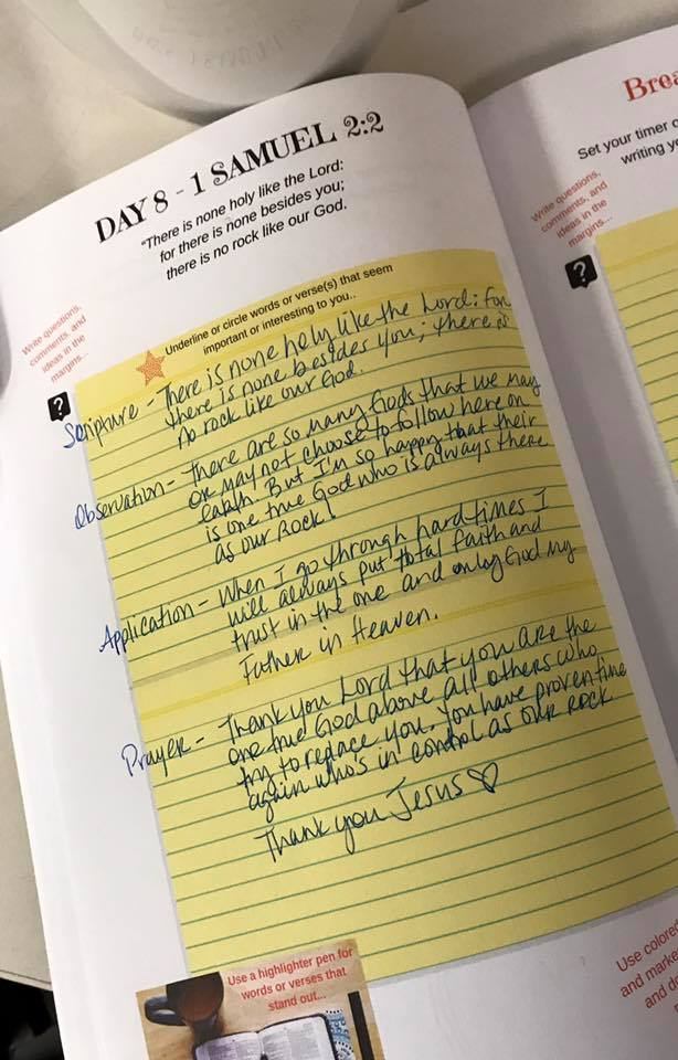 1 Samuel 2 2 SOAP bible study example