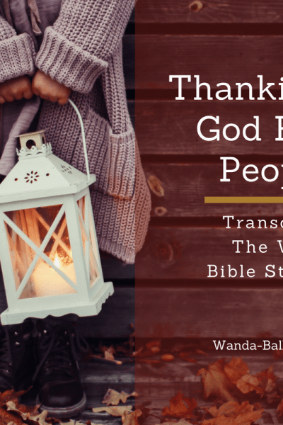 Thanking God For People Nov Study & Journal