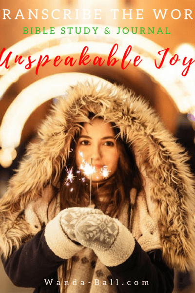 Unspeakable Joy Blog Pic