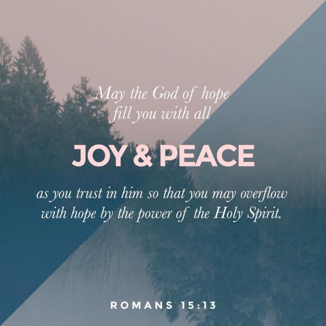 unspeakable joy romans 15:13