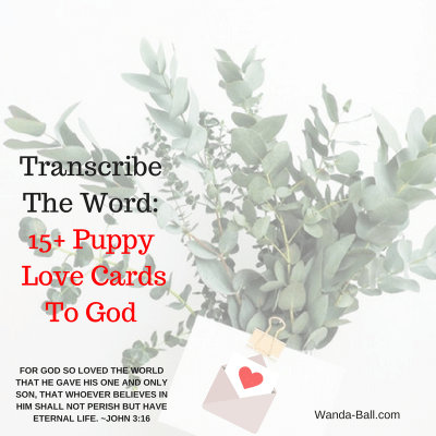 Transcribe The Word – 15+ Puppy Love Cards To God