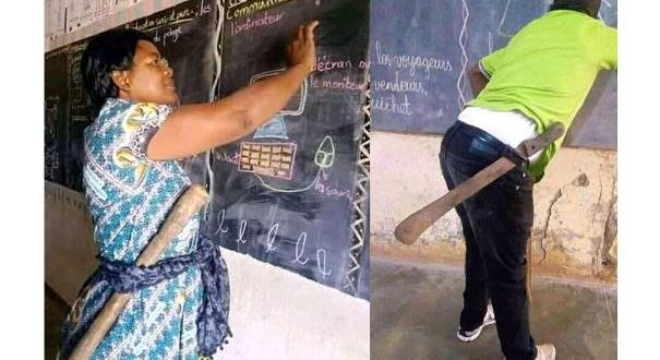 How teachers now go to school in Cameroon after a student stabbed a teacher to death