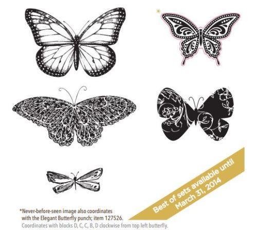 133345 Best of Butterflies (Clear-mount) $14.95