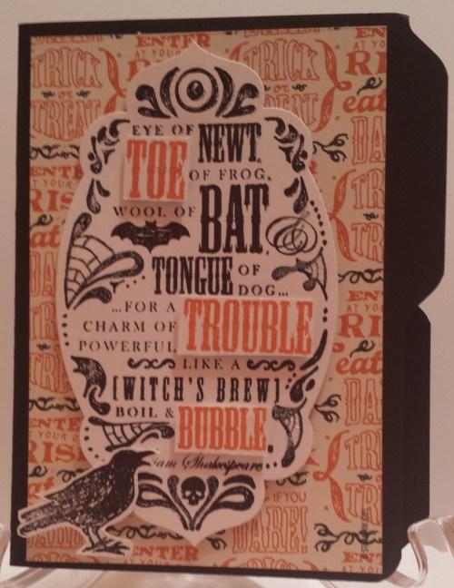 My friend Patti Sharkey made this awesome File Folder Halloween card.