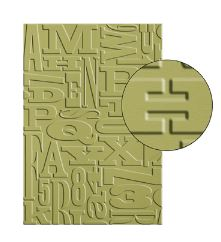 Alphabet Press Textured Impressions Embossing Folder Item #130916 Regular Price: $7.95 Discounted Price: 5.96