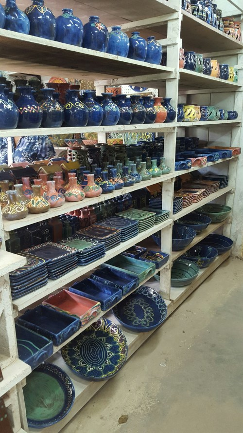 Awesome Pottery factory in Barbados.