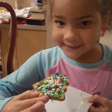 Reina's 2nd cookie creation.