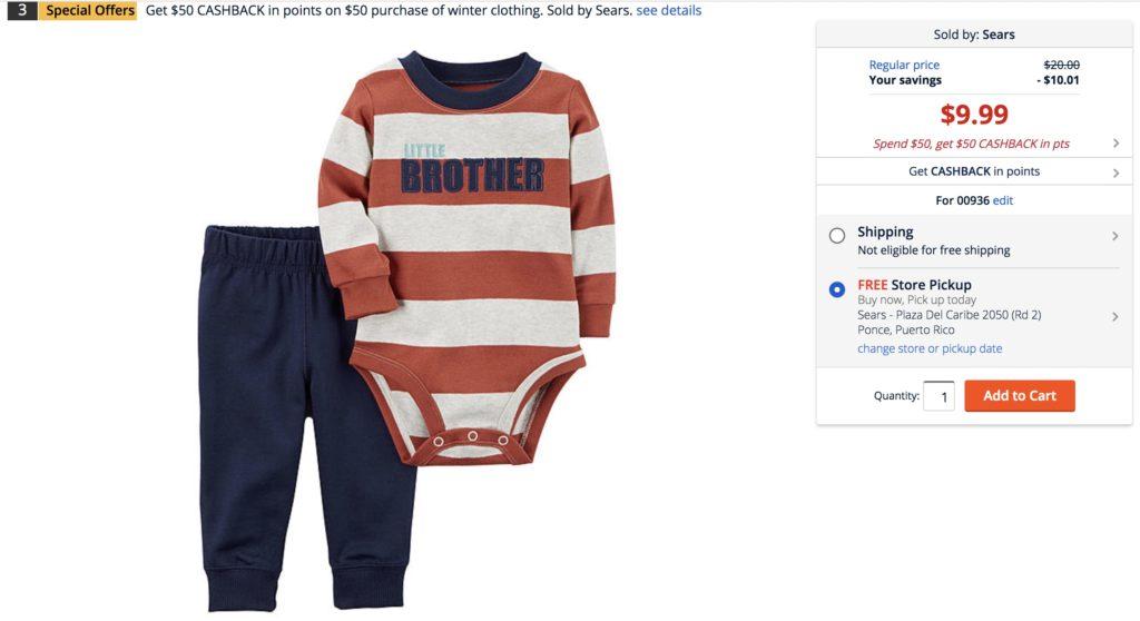 Carters ropa de niños