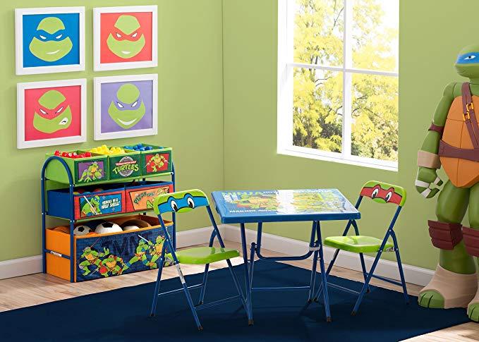 AMAZON: $38.74 Delta Children Nickelodeon Teenage Mutant Ninja Turtles Playroom Solution Set (Table & Chair Set + Metal Multi-Bin Toy Organizer)