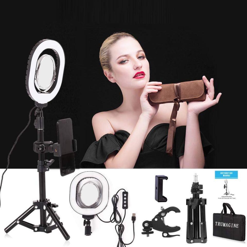 7×6″ Selfie Ring Light,Dimmable USB Desktop lighting