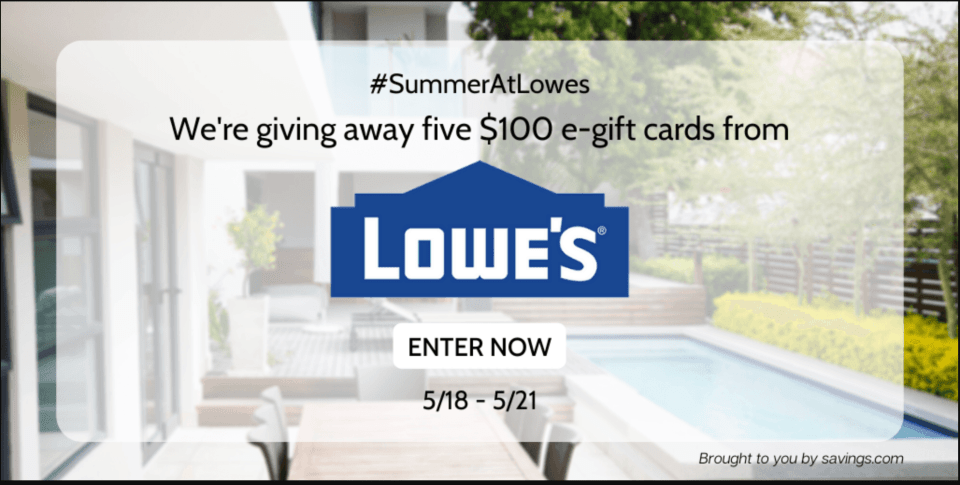 PARTICIPA: SUMMER AT LOWES GIFT CARD GIVEAWAY