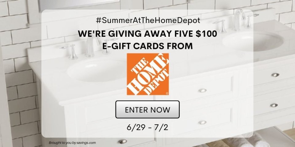 SUMMER AT THE HOME DEPOT GIVEAWAY