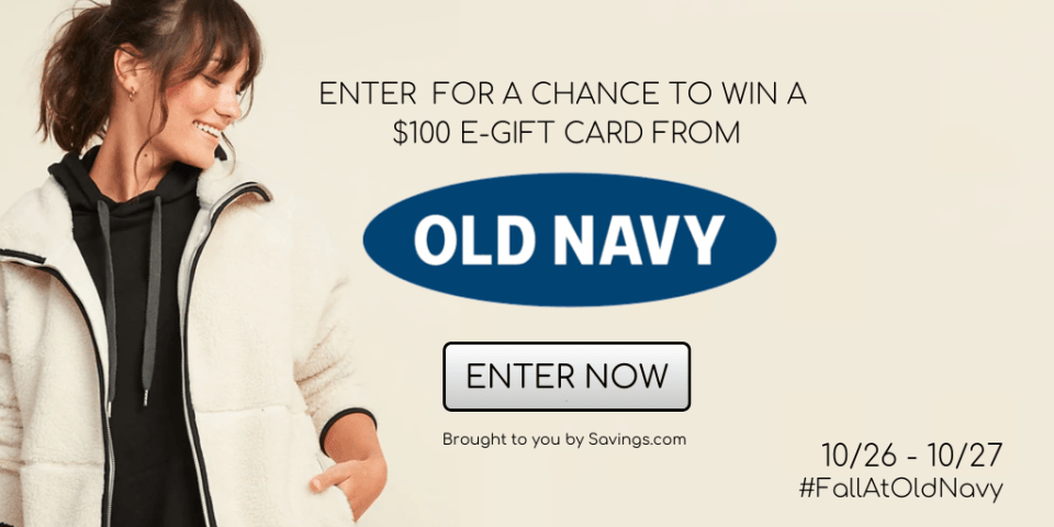 GIVEAWAY FALL AT OLD NAVY