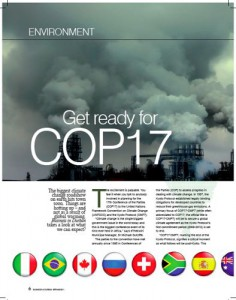 COP17 coverage for Business in Durban mag.