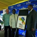 Michael-Sutcliffe, Logie-Naidoo and Zweli-Mkize launch Woza eNanda.