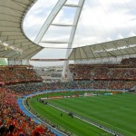 Inside the stadium during the Spain vs Switzerland game in 2010.
