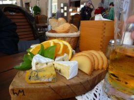 Cheese lunch Warsaw's Old Town.