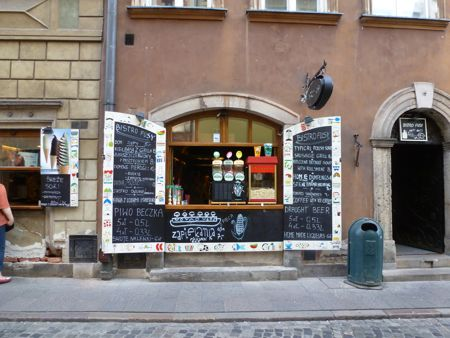 A hole-in-the-wall eatery on Warsaw's Old Town.