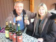 Winemaker Gorscy with the author.