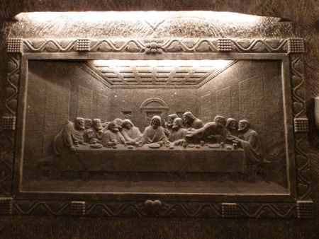 Wieliczka Salt Mine salt last supper.