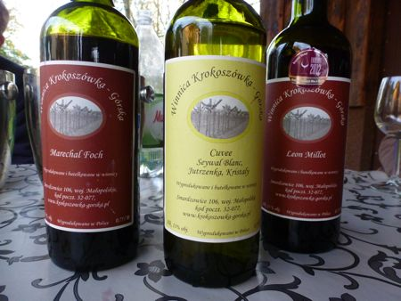 Winemaker Gorscy's wines.