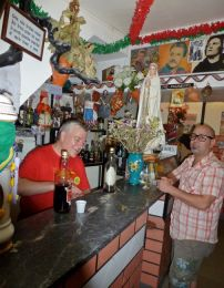 One of the hole-in-the-wall bars in the fado Mouraria neighborhood.