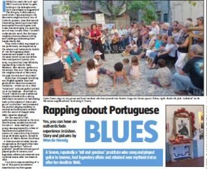 Fado in Lisbon in Sunday Tribune.