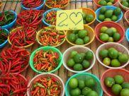 Colorful Kamala Market, Phuket Thailand.
