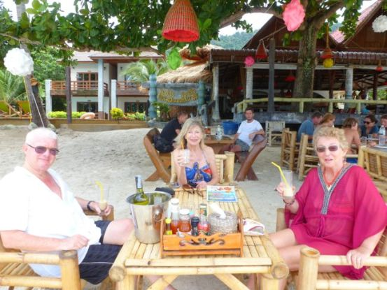 Lunch at Nice Beach Restaurant, Tong Nai Pan beach.
