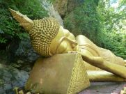 Reclining Buddha Luang Prabang Laos.