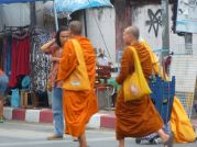 Monks in the market.