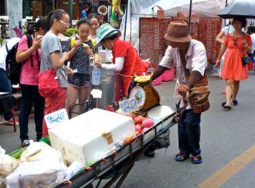 Sunday Walking Market set-up.