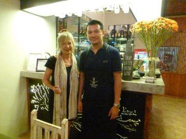 With Chef Nittaya Wattanaya or Nit at Suay in Phuket City.
