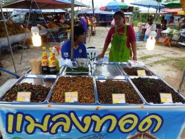 Bugs for sale at the Nai Yang market.