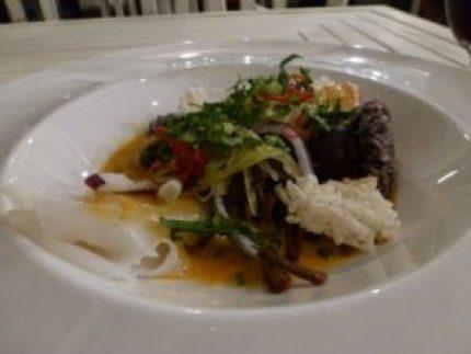 Chef Noi's salmon dish Suay