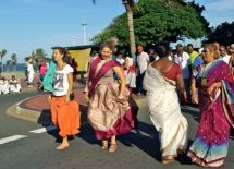 Enjoying the Festival of Chariots in Durban.