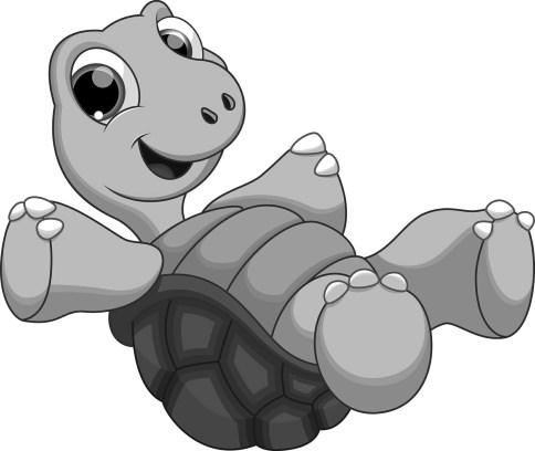 bigstock-Cute-turtle-B&W cartoon-99057428