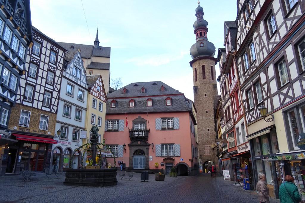 Marktplatz Cochem Moezel Duitsland