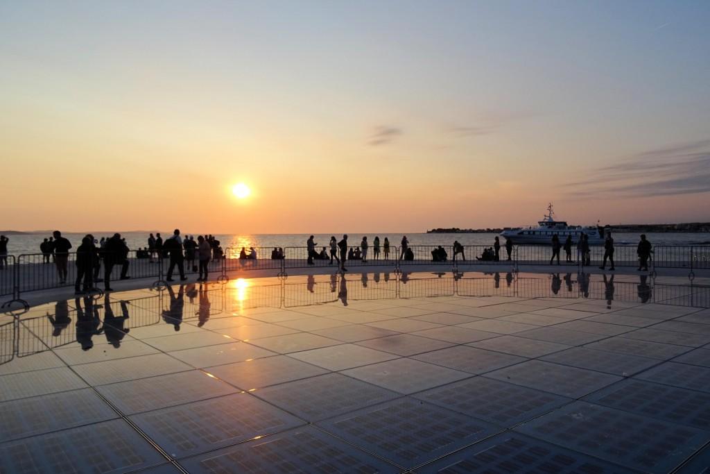 Zadar zonsondergang Kroatië steden