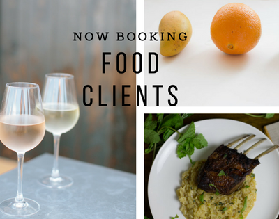 Now Booking New Food Clients